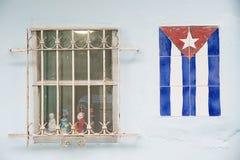 Bandeira cubana Foto de Stock