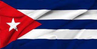Bandeira cubana - Cuba Fotografia de Stock