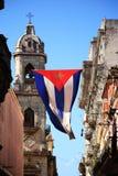 Bandeira cubana em Havana Fotografia de Stock