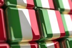Bandeira-cubo italiano Imagens de Stock Royalty Free