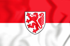 bandeira 3D de Bransvique, de Alemanha & de x28; Abaixe Saxony& x29; Imagem de Stock Royalty Free