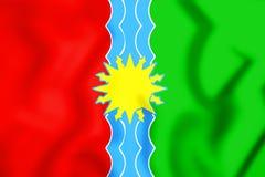 bandeira 3D de Bratsk & de x28; Irkutsk Oblast& x29; , Rússia Imagens de Stock
