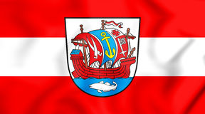 bandeira 3D de Bremerhaven, Alemanha Imagem de Stock