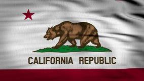 A bandeira 3d de Califórnia animou ilustração royalty free