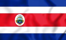 bandeira 3D de Costa-Rica Fotografia de Stock