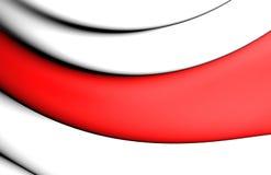 bandeira 3D de Enschede, Países Baixos Imagens de Stock Royalty Free