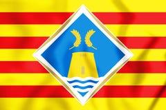 bandeira 3D de Formentera, Espanha Imagens de Stock Royalty Free