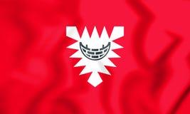 bandeira 3D de Kiel & de x28; Schleswig-Holstein& x29; , Alemanha Fotografia de Stock Royalty Free