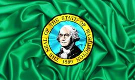 bandeira 3d de ondulação de Washington Fotos de Stock