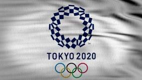 A bandeira 3d de Tokio 2020 animou ilustração royalty free