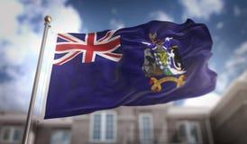 Bandeira 3D do Geórgia do Sul e Ilhas Sandwich que rende o Imagem de Stock