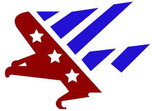 Bandeira da águia Foto de Stock