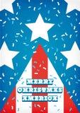 Bandeira da árvore de Natal dos EUA Foto de Stock