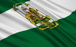 Bandeira da Andaluzia, Spain imagem de stock