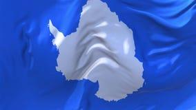 Bandeira da Antártica que acena no fundo sem emenda contínuo do laço do vento ilustração stock