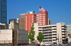 Bandeira da baixa da skyline do jax Imagens de Stock Royalty Free