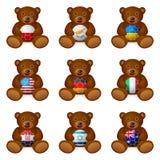 Bandeira da bola de futebol do urso Fotografia de Stock Royalty Free