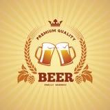 Bandeira da cerveja ilustração royalty free