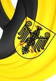 Bandeira da cidade Baixa Saxónia de Goslar, Alemanha Foto de Stock