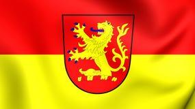 Bandeira da cidade Baixa Saxónia de Langenhagen, Alemanha Imagens de Stock Royalty Free