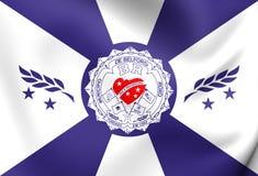Bandeira da cidade de Belford Roxo, Brasil Foto de Stock Royalty Free
