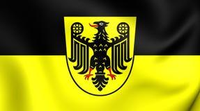 Bandeira da cidade de Goslar, Alemanha Imagem de Stock
