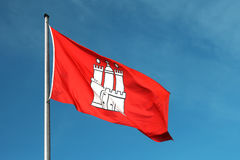 Bandeira da cidade de Hamburgo Fotos de Stock Royalty Free