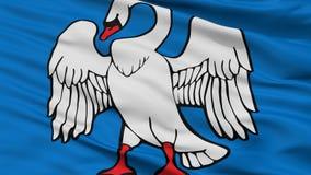 Bandeira da cidade de Jonava, Lituânia, opinião do close up imagens de stock