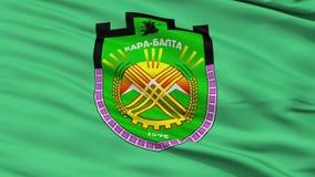 Bandeira da cidade de Karabalta do close up, Quirguizistão filme