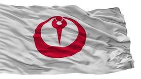 Bandeira da cidade de Maizuru, Japão, prefeitura de Kyoto, isolada no fundo branco ilustração stock