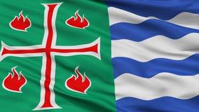 Bandeira da cidade de Mayaguez, Porto Rico, opinião do close up Ilustração Royalty Free