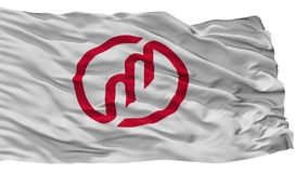 Bandeira da cidade de Miyazu, Japão, prefeitura de Kyoto, isolada no fundo branco ilustração do vetor