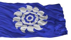 Bandeira da cidade de Muko, Japão, prefeitura de Kyoto, isolada no fundo branco ilustração do vetor