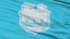 Bandeira da cidade de Novi Sad do close up, Sérvia ilustração stock