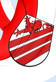 Bandeira da cidade de Weyhe, Alemanha Fotografia de Stock Royalty Free