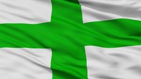 Bandeira da cidade de Zejtun, Malta, opinião do close up Imagens de Stock