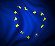 Bandeira da Comunidade Européia ilustração stock