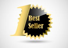 Bandeira da concessão do melhor vendedor para a informação do produto da loja ilustração stock