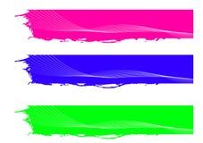 Bandeira da cor Imagens de Stock Royalty Free