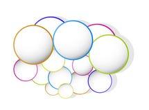 Bandeira da cor do círculo Foto de Stock Royalty Free