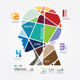 Bandeira da cor do molde de Infographic vetor do conceito Fotos de Stock