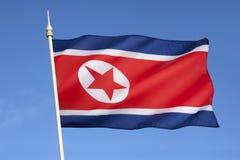 Bandeira da Coreia do Norte Fotos de Stock Royalty Free