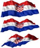 Bandeira da Croácia Fotografia de Stock Royalty Free