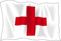 Bandeira da cruz vermelha ilustração do vetor