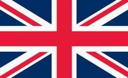 Bandeira da bandeira de união Union Jack de Grâ Bretanha ilustração stock
