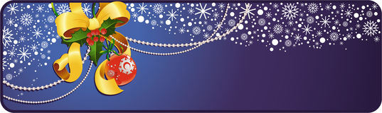 Bandeira da decoração do Natal Fotos de Stock Royalty Free