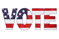 Bandeira da eleição presidencial dos EUA 2016 Imagens de Stock
