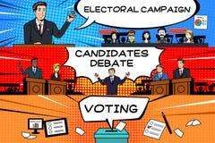 Bandeira da eleição presidencial Fotografia de Stock