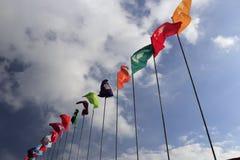 Bandeira da equipe de esportes da província fotografia de stock