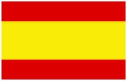 Bandeira da Espanha Fotografia de Stock